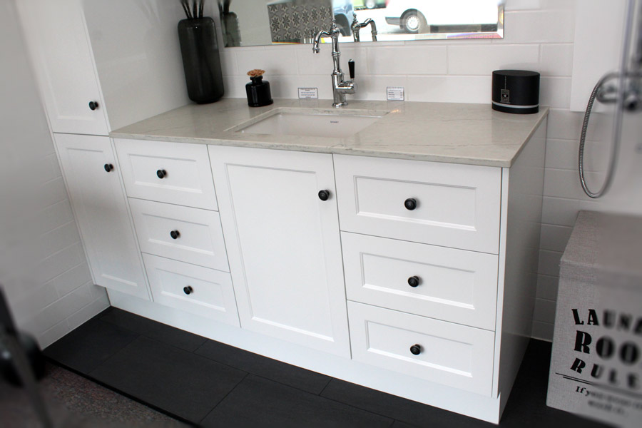 Custom Vanity Unit 1450 & Tall Boy 400 - Bathroom Supplies ...