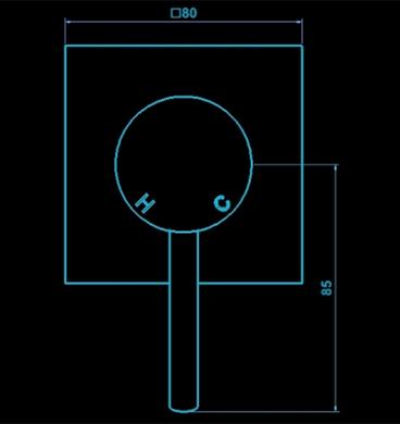 Evolve Wall Mixer 80x80mm Dimensions