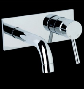 Ram Evolve Wall Mixer Horizontal Wall Plate 150mm Spout