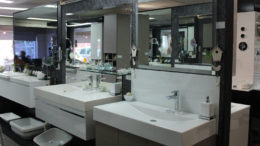bathroom supplies showroom