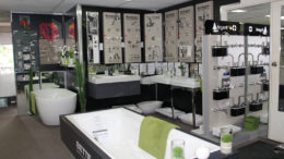 brodware bathroom products on display
