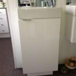 Argent Azure Wash Basin with Edo Floor Cabinet