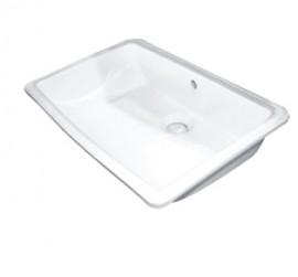 Adp Dignity Semi Inset Basin Satin White 500 X 370