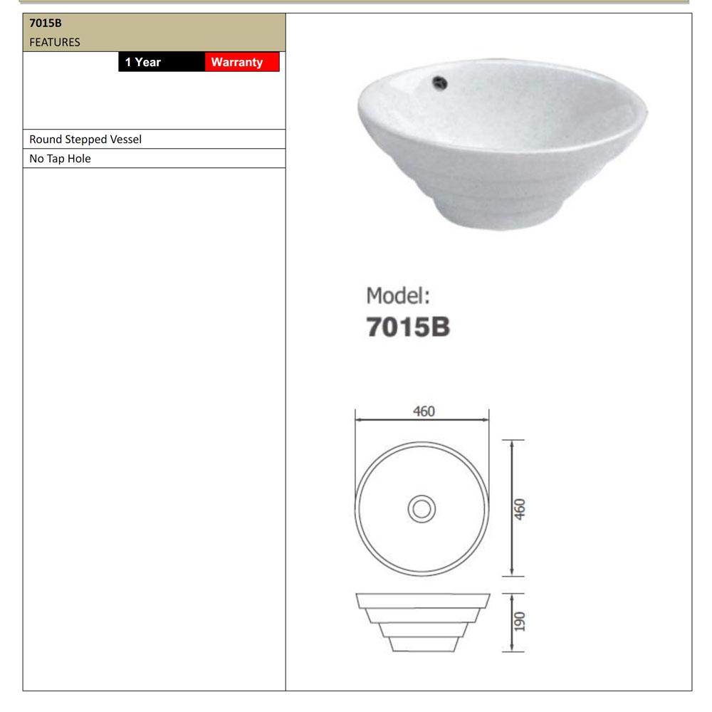Arto 7015b Stepped Vessel Basin Dimensions Bathroom