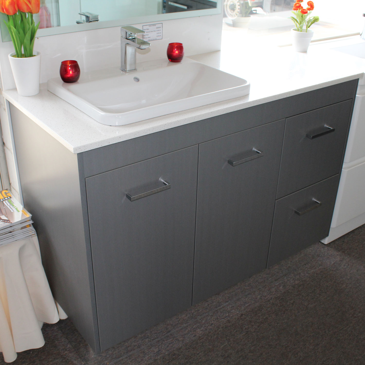 Custom Vanity Unit 1200mm With Caesarstone Top Bathroom Supplies In Brisbane
