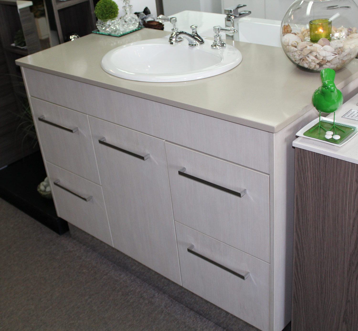 Custom Vanity 1200mm With Caesarstone Top Amp Laminate
