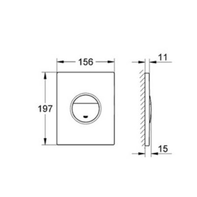 GROHE Nova Flush Button Dimensions