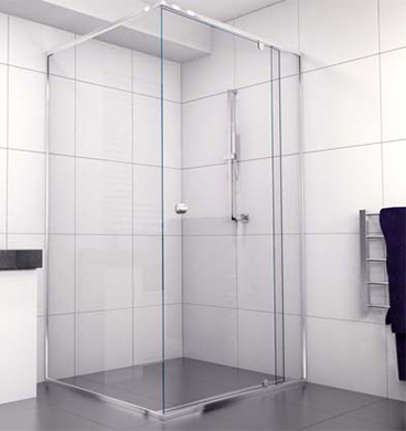 Semi Frameless Shower Screen 900 X 900 Installed