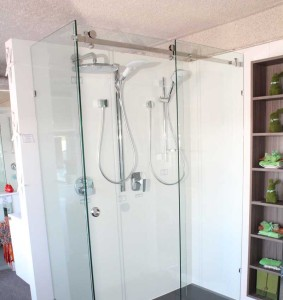 opto frameless shower screen