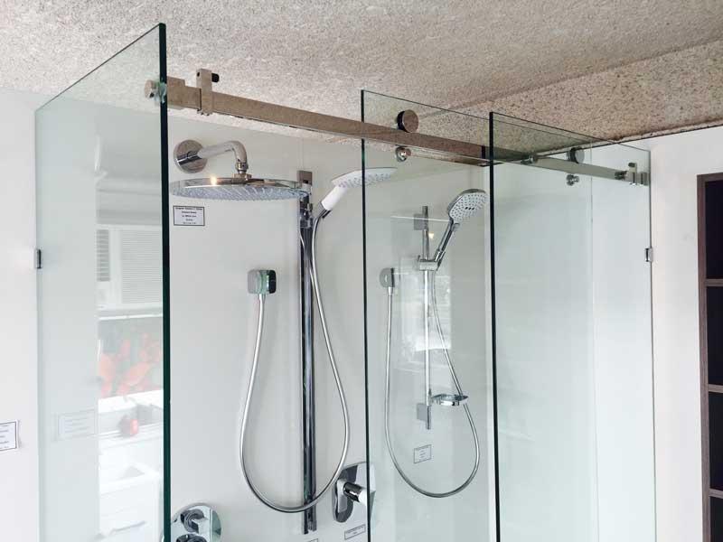 10mm Frameless Opto Sliding shower screen 1500 x 900mm – Bathroom ...