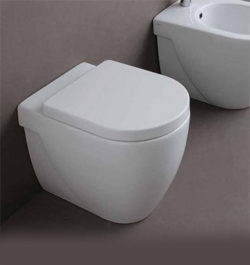 wall faced pan toilet