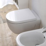 Studio bagno wall hung toilet with bidet