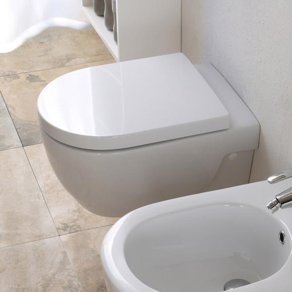 Studio bagno wall hung toilet with bidet