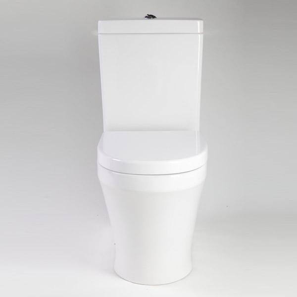 Q back to wall toilet white