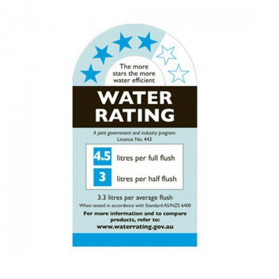 Tutto Evo Wall Faced Pan Toilet water ratings