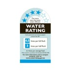 water rating for studio bagno toilet