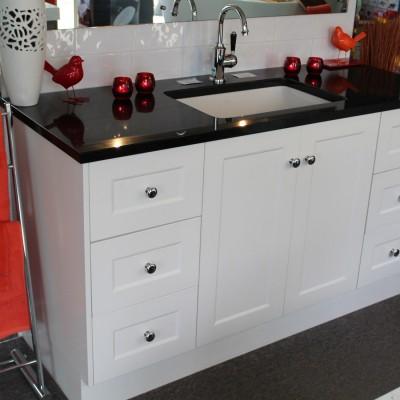 custom vanity and basin