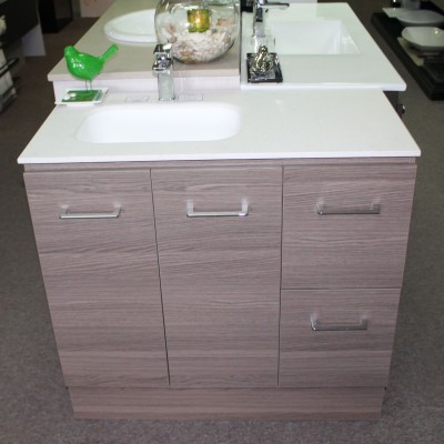 vanity with integrated basin