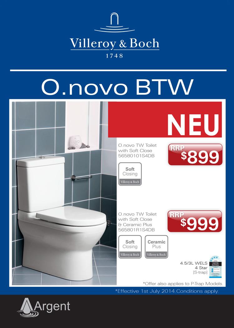 villeroy boch o novo back to wall toilet. Black Bedroom Furniture Sets. Home Design Ideas