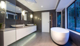 freestanding bath with view