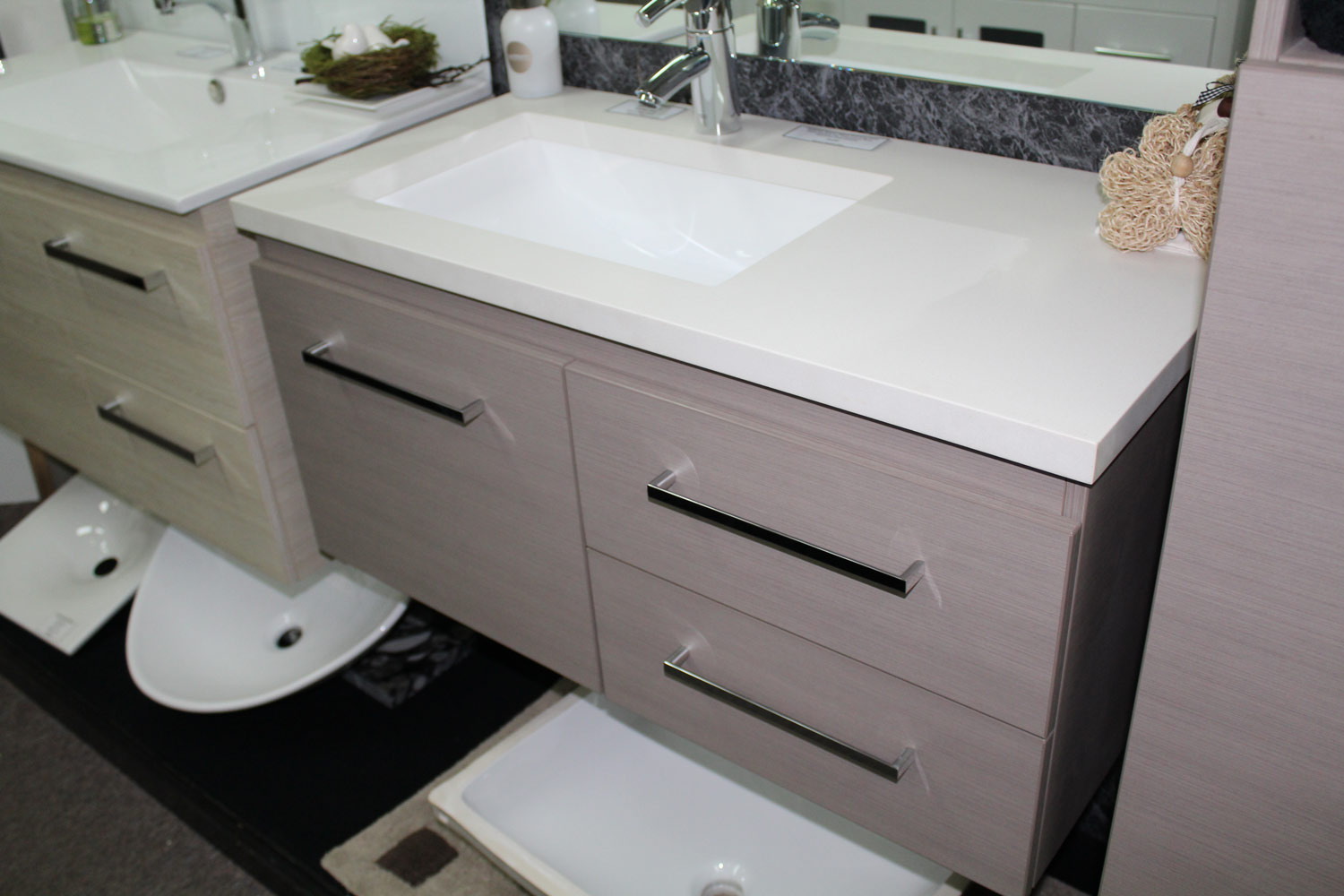 Bathroom Vanities Qld timberline dakota 900mm wall hung vanity – bathroom supplies in