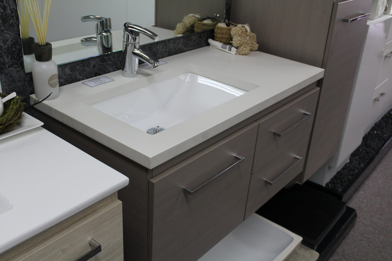 Wall Hung Bathroom Vanities With Wonderful Creativity In Singapore - Cheap bathroom vanity units