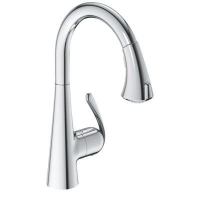 grohe zedra kitchen mixer with pull out spray. Black Bedroom Furniture Sets. Home Design Ideas