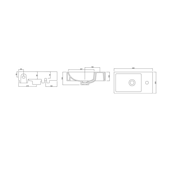 Mode Small Wash Basin Dimensions