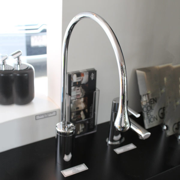 Gessi Goccia Basin Mixer with Spout on display