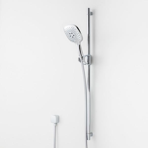 PuraVida Shower Set on Rail White-Chrome 3 Jet – Bathroom Supplies ...