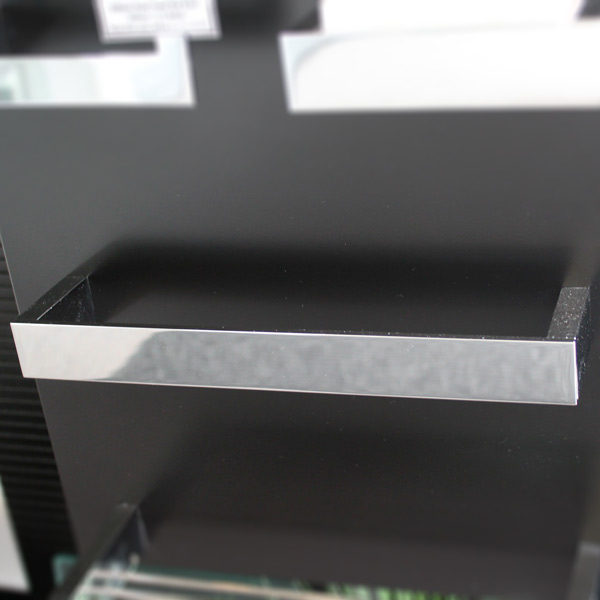 Rettangolo 300mm Hand Towel Rail Displayed in showroom