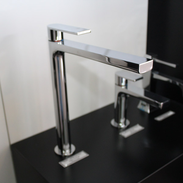 Via Manzoni High Basin Mixer Chrome at Bathroom Supplies