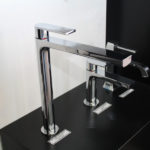 Via Manzoni High Basin Mixer Chrome on Display