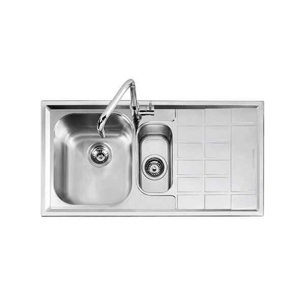 Abey Barazza Level 1 and one quarter bowl sink