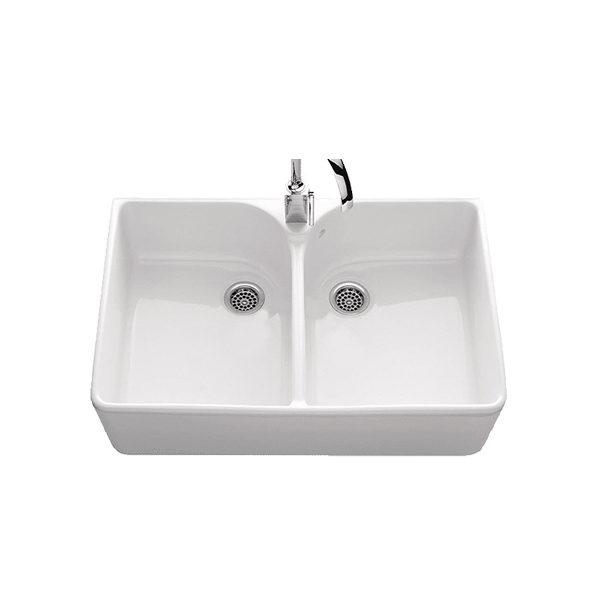 abey lago double bowl sink source    abey clotaire double bowl ceramic sink bathroom supplies in brisbane abey sink   sink ideas  rh   sink theirhome site