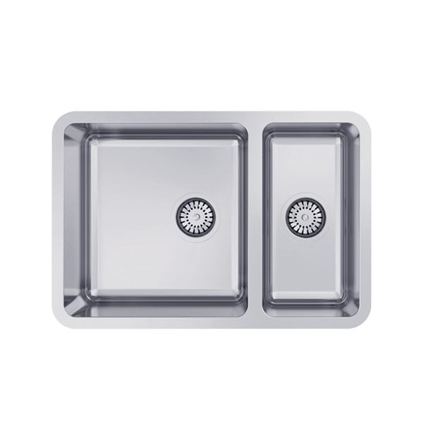Abey Lago Undermount sink one and a third bowls