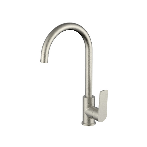 Akemi Kitchen Sink Mixer Brushed Nickel Finish