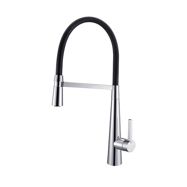 Arcisan AR01260 Kitchen Sink mixer with nozzle on black hose
