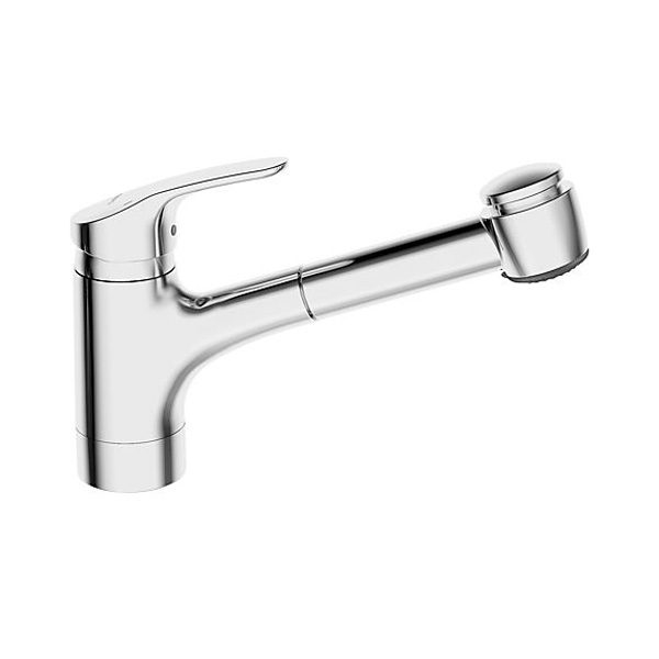 Hansa Mix Low Spout Kitchen Mixer with Pullout Spray