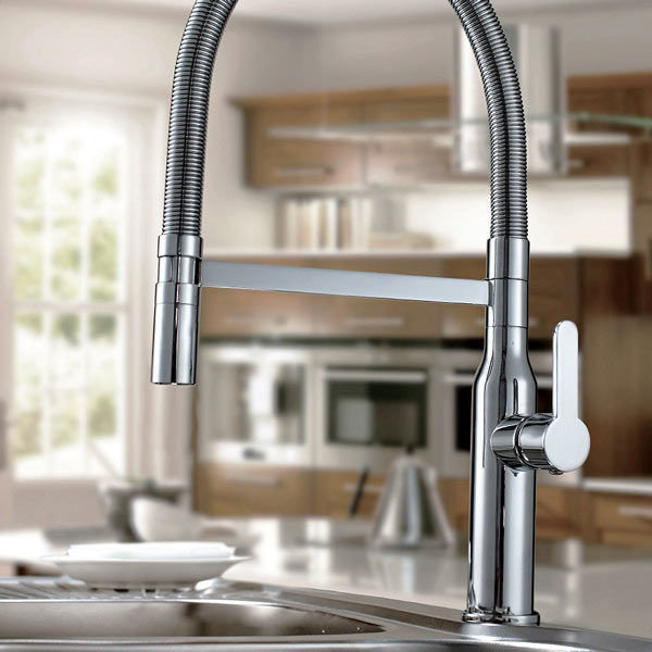 In the kitchen- Arcisan AR01264 Kitchen Mixer with Handspray on Metal Hose
