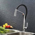 In the kitchen- Arcisan AR01271 Kitchen Mixer with 2 jet spray on Black Hose