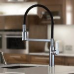 In the kitchen- Arcisan Eneo Kitchen Mixer with 2 jet spray on Black Hose