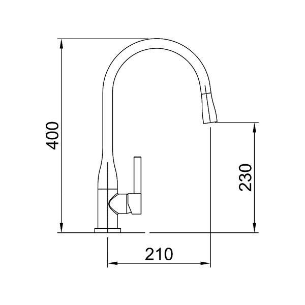 Specifications for Arcisan AR01250 Gooseneck Kitchen Mixer