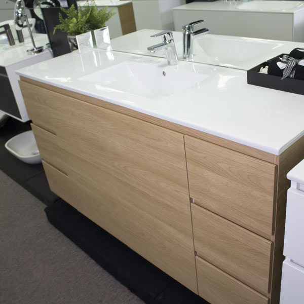 ADP Glacier Trio 1500mm Elegant Oak and China Top