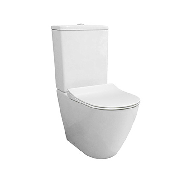 Parisi Ellisse MKII Rimless Back to Wall Toilet Suite with Soft Close Seat