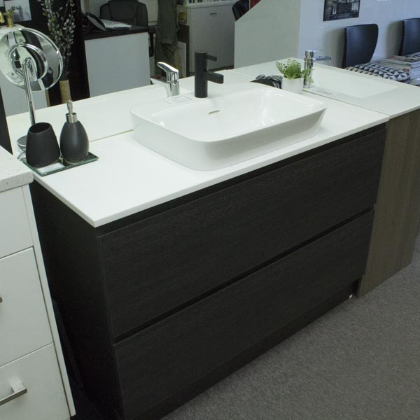 Custom All Drawer Vanity Unit With Solid Top and Basin