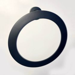 Stile Black Towel Ring