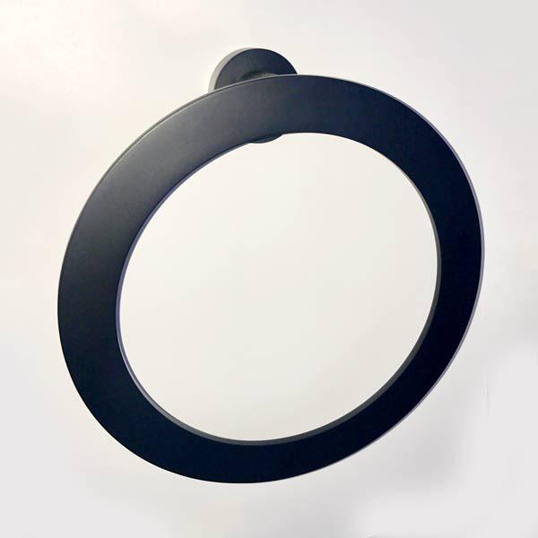 Stile Black Towel Ring