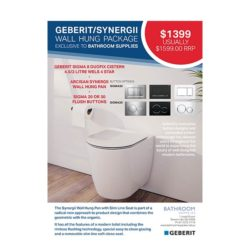 Promotion-Geberit-SYNERGII- Wall Hung Pan