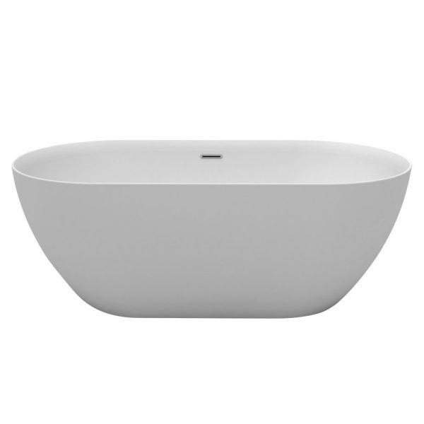 Positano 1600 Freestanding Slimline Bath with waste & overflow